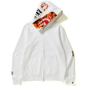 BAPE Off White Knit Hoodie Men's Large Tiger Shark
